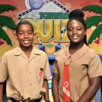 The captains of Ardenne Prep (left) and Naggo Head Primary