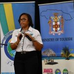 Training Manager for the Tourism Product Development Company (TPDCo) Western Region, Megan Mollison, gives a presentation on the coronavirus (COVID-19) protocols for the island's hotels when they reopen on June 15. Occasion was day two of the TPDCo COVID-19 Protocol Sensitisation workshop, which was held at the Montego Bay Convention Centre in St. James, on Tuesday ( June 9).